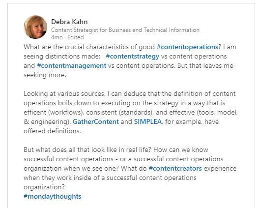 LinkedIn Post with 3 paragraphs
